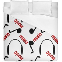 Music Letters Word Headphones Note Duvet Cover (king Size) by HermanTelo