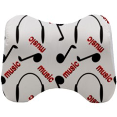 Music Letters Word Headphones Note Head Support Cushion