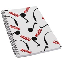 Music Letters Word Headphones Note 5 5  X 8 5  Notebook by HermanTelo