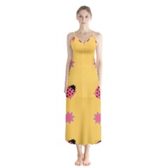 Ledy Bird Button Up Chiffon Maxi Dress