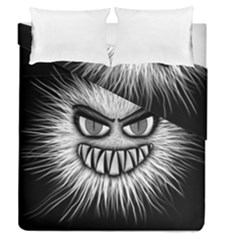 Monster Black White Eyes Duvet Cover Double Side (queen Size)
