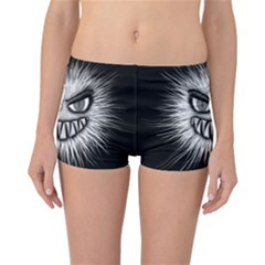 Monster Black White Eyes Reversible Boyleg Bikini Bottoms