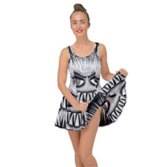 Monster Black White Eyes Inside Out Casual Dress