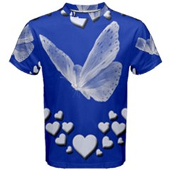 Heart Love Butterfly Mother S Day Men s Cotton Tee