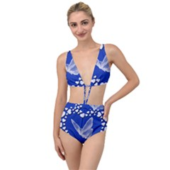 Heart Love Butterfly Mother S Day Tied Up Two Piece Swimsuit