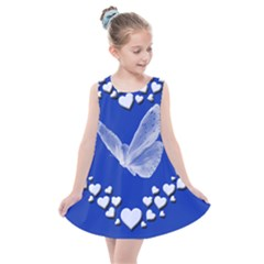 Heart Love Butterfly Mother S Day Kids  Summer Dress by HermanTelo