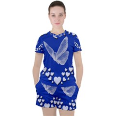 Heart Love Butterfly Mother S Day Women s Tee And Shorts Set by HermanTelo