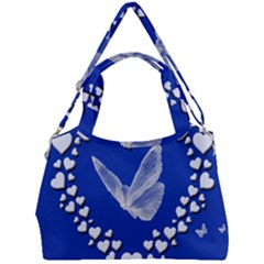 Heart Love Butterfly Mother S Day Double Compartment Shoulder Bag by HermanTelo
