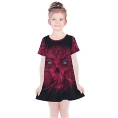 Monster Red Eyes Aggressive Fangs Ghost Kids  Simple Cotton Dress