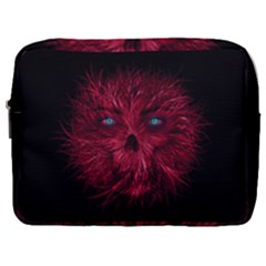 Monster Red Eyes Aggressive Fangs Ghost Make Up Pouch (large) by HermanTelo