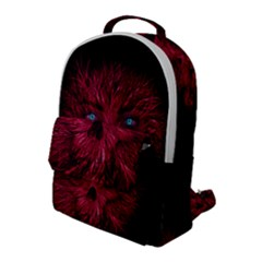 Monster Red Eyes Aggressive Fangs Ghost Flap Pocket Backpack (large) by HermanTelo