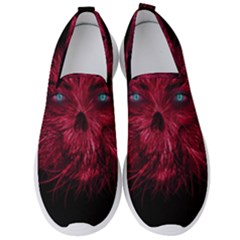 Monster Red Eyes Aggressive Fangs Ghost Men s Slip On Sneakers by HermanTelo