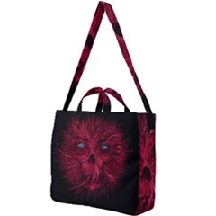 Monster Red Eyes Aggressive Fangs Ghost Square Shoulder Tote Bag by HermanTelo