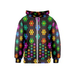 Pattern Background Colorful Design Kids  Zipper Hoodie