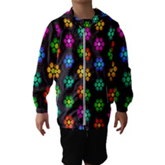 Pattern Background Colorful Design Kids  Hooded Windbreaker
