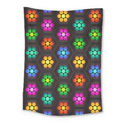 Pattern Background Colorful Design Medium Tapestry