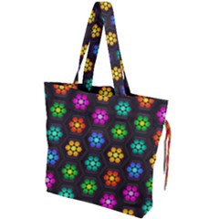 Pattern Background Colorful Design Drawstring Tote Bag