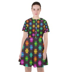 Pattern Background Colorful Design Sailor Dress