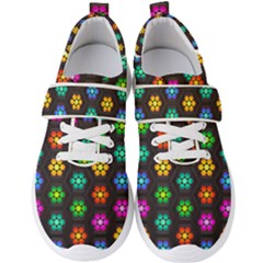 Pattern Background Colorful Design Men s Velcro Strap Shoes