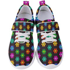 Pattern Background Colorful Design Women s Velcro Strap Shoes