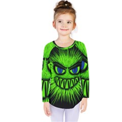 Monster Green Evil Common Kids  Long Sleeve Tee