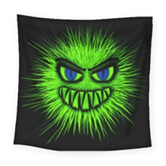 Monster Green Evil Common Square Tapestry (large)