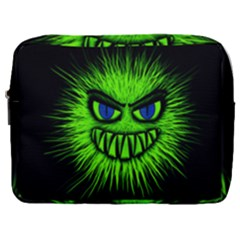 Monster Green Evil Common Make Up Pouch (large) by HermanTelo