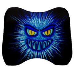 Monster Blue Attack Velour Head Support Cushion