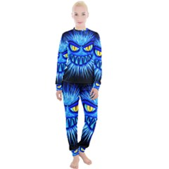 Monster Blue Attack Women s Lounge Set by HermanTelo