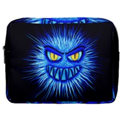 Monster Blue Attack Make Up Pouch (large) by HermanTelo