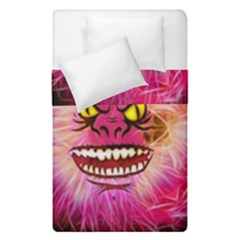 Monster Pink Eyes Aggressive Fangs Duvet Cover Double Side (single Size)