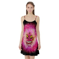 Monster Pink Eyes Aggressive Fangs Satin Night Slip