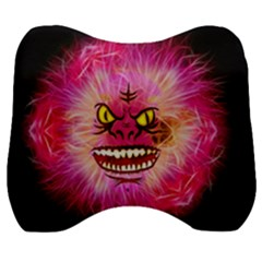 Monster Pink Eyes Aggressive Fangs Velour Head Support Cushion