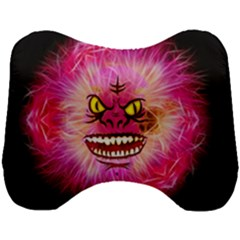 Monster Pink Eyes Aggressive Fangs Head Support Cushion