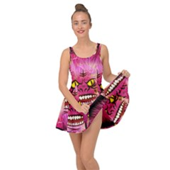 Monster Pink Eyes Aggressive Fangs Inside Out Casual Dress