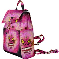 Monster Pink Eyes Aggressive Fangs Buckle Everyday Backpack by HermanTelo