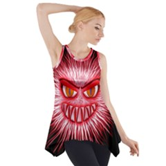 Monster Red Eyes Aggressive Fangs Side Drop Tank Tunic by HermanTelo