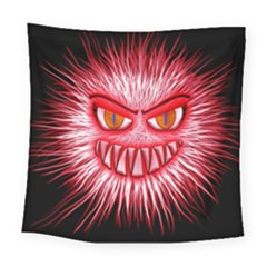 Monster Red Eyes Aggressive Fangs Square Tapestry (large) by HermanTelo