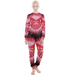 Monster Red Eyes Aggressive Fangs Women s Lounge Set