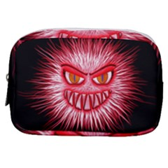 Monster Red Eyes Aggressive Fangs Make Up Pouch (small) by HermanTelo