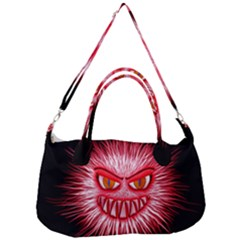 Monster Red Eyes Aggressive Fangs Removal Strap Handbag