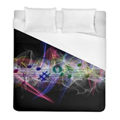 Particles Music Clef Wave Duvet Cover (full/ Double Size) by HermanTelo
