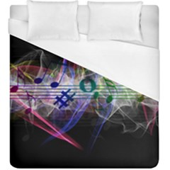 Particles Music Clef Wave Duvet Cover (king Size) by HermanTelo