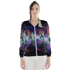Particles Music Clef Wave Women s Windbreaker by HermanTelo