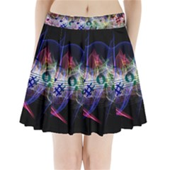 Particles Music Clef Wave Pleated Mini Skirt by HermanTelo