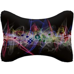 Particles Music Clef Wave Seat Head Rest Cushion