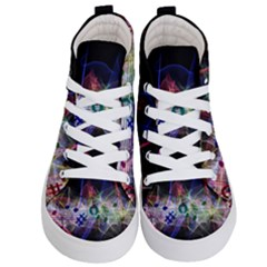 Particles Music Clef Wave Kids  Hi Top Skate Sneakers