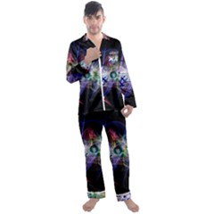 Particles Music Clef Wave Men s Satin Pajamas Long Pants Set by HermanTelo