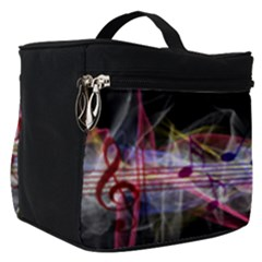 Particles Music Clef Wave Make Up Travel Bag (small) by HermanTelo