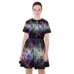 Particles Music Clef Wave Sailor Dress by HermanTelo
